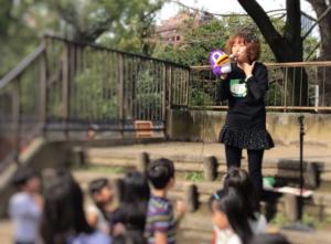 明徳幼稚園の明徳祭で初出演したパペットのプースラー2